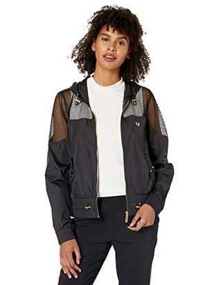 True Religion Women's MESH Cropped Jacket