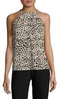 Calvin Klein Leopard Halter Top
