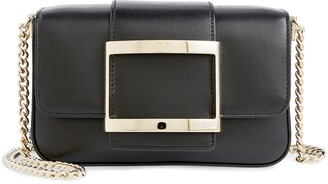 Roger Vivier Micro Tres Vivier Calfskin Leather Crossbody Bag