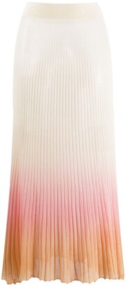 Jacquemus Helado degrade pleated knitted skirt