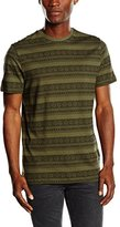 New Look Men's Khaki Aztec Stripe Short Sleeve Top