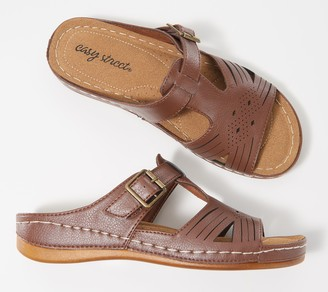Easy Street Shoes Slide Sandal with Buckle - Kimber