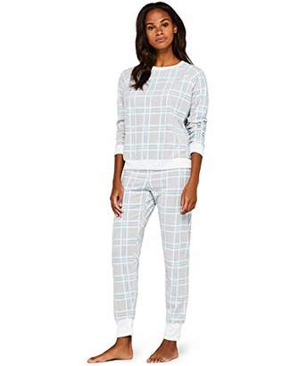 Iris & Lilly Amz19fwtb05 Women's Pajamas, Multi-Color (MultiCheck), 36 (Manufacturer Size: Small)