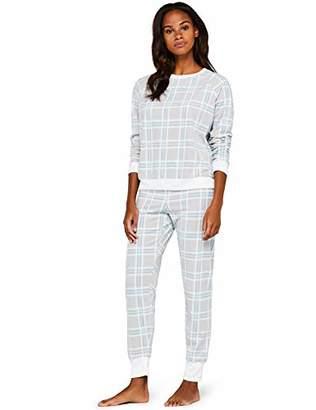 Iris & Lilly Amz19fwtb05 Women's Pajamas, Multi-Color (MultiCheck), 38 (Manufacturer Size: Medium)