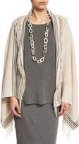Eileen Fisher Trattino Wool-Blend Wrap