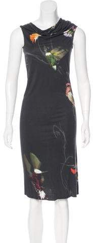 Alexander McQueen Printed Midi Dress