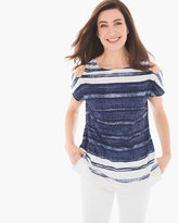 Chico's Raleigh Watery Stripe Top