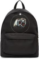 Givenchy Black Nylon Monkey Brothers Backpack