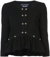 Moschino embroidered jacket - women - Acrylic/Polyamide/Virgin Wool/other fibers - 40