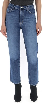 J Brand Classic Straight Cropped Jeans