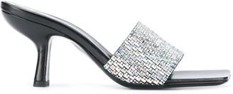 BY FAR Embellished Slip-On Sandals