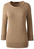 Classic Women's Plus Size Supima Cotton 3/4 Sleeve Sweater-Rich Sapphire