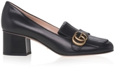 Gucci Polly Fringed Leather Loafers
