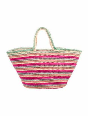 Sensi Straw Tote Bag Pink