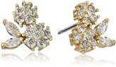 """lonna & lilly Turq Treasure"""" Worn Gold-Tone and Crystal Cluster Stud Earrings"""