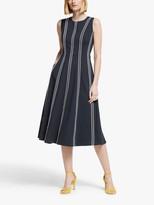 Boden Eve Sleeveless Striped Midi Dress, Navy