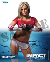 WWE Velvet Sky - TNA Impact Wrestling 8x10 Photo 2013 posed