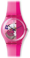Swatch Unisex GP145 Pinkorama Analog Display Quartz Pink Watch