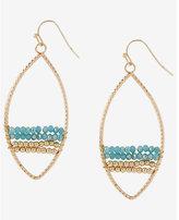 Express cut-out bead oval teardrop earrings