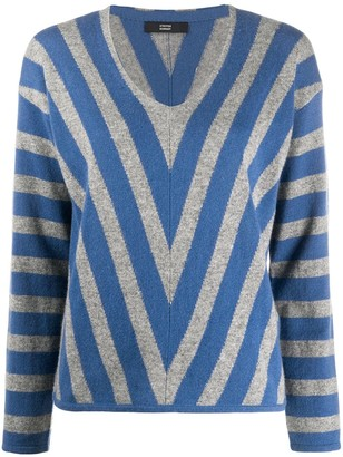 Steffen Schraut Diagonal Striped Cashmere Jumper