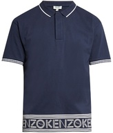 Kenzo Branded Hem Cotton Polo Shirt