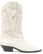 Etoile Isabel Marant Isabel Marant - étoile Dallin Embroidered Leather Boots - White