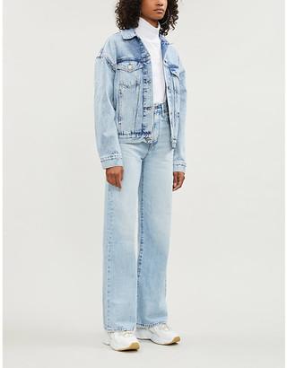Tommy Jeans Flag-embroidered denim jacket