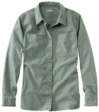 L.L. Bean L.L.Bean Women's Heritage Sunwashed Canvas Shirt