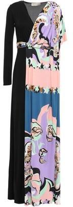 Emilio Pucci Layered Draped Printed Jersey Maxi Dress