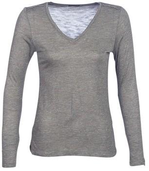 Ikks ANDRO women's Long Sleeve T-shirt in Kaki