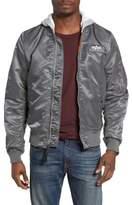 Alpha Industries Men's Lightweight L2-B Flight Jacket With Knit Hood