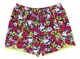 Monster High All-Over Print Shorts Witch Contrast Tuggles Trim