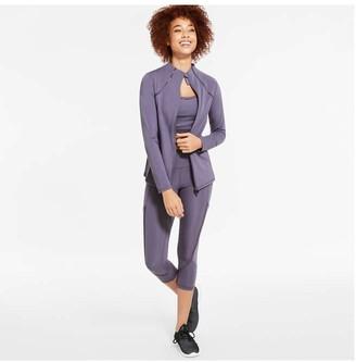 Joe Fresh Women's Elastic Detail Active Jacket, Pastel Purple (Size S)