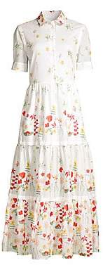 Max Mara Women's Lina Short-Sleeve Floral Dress