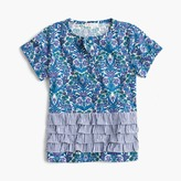J.Crew Girls' striped ruffle top in Liberty® floral