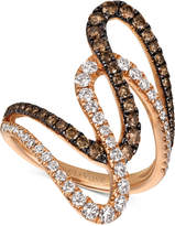 LeVian Le Vian Chocolatier® Diamond Abstract Swirl Ring (1-1/6 ct. t.w.) in 14k Rose Gold