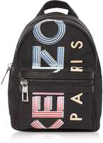 Kenzo Black Nylon Sport Logo Animation Mini Backpack