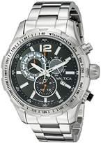 Nautica Men's NAD18504G NST 30 Analog Display Quartz Black Watch by