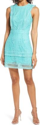 Adelyn Rae Shayna Mixed Lace Dress