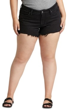 Silver Jeans Co. Trendy Plus Size Denim Boyfriend Shorts