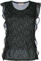 MICHAEL Michael Kors sleeveless ruffle blouse - women - Cotton/Polyester/Modal - S