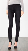 Esprit OUTLET high-waisted jeans + faux leather detailing