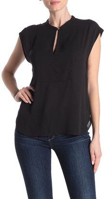 J.Crew Solid Cap Sleeve Woven Blouse