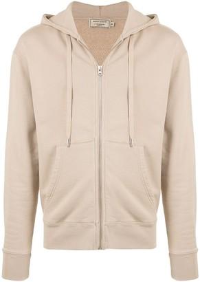 MAISON KITSUNÉ tricolour Fox zip-up hoodie