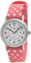 Timex Weekender Dots Watch - Reversible Nylon Strap (For Women)