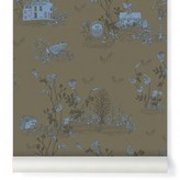 Sian Zeng Woodland classic wallpaper - khaki green