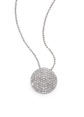 Phillips House Pave Diamond & 14K White Gold Infinity Disc Pendant Necklace