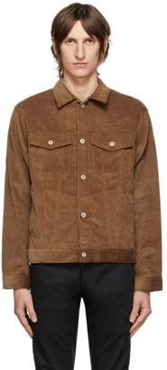 Naked and Famous Denim Brown Seersucker Corduroy Jacket