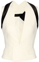 Haider Ackermann Cotton And Silk Crêpe Waistcoat