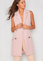Missy Empire Kamlyn Pink Cut Out Pocket Waistcoat